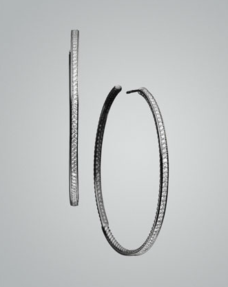 David Yurman Pavé Diamond Hoop Earrings