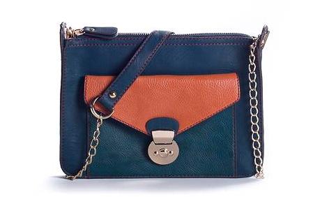 Poppie Jones Canvas Stripe Messenger Shoulder Bag 24
