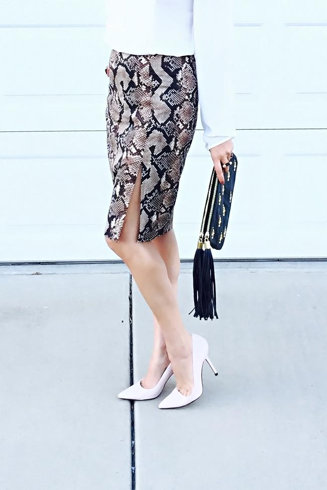 altuzarra target snakeskin pencil skirt