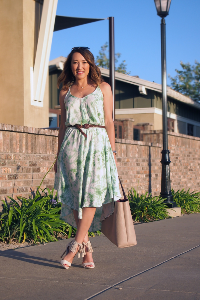 ootd summer dresses fringe heels