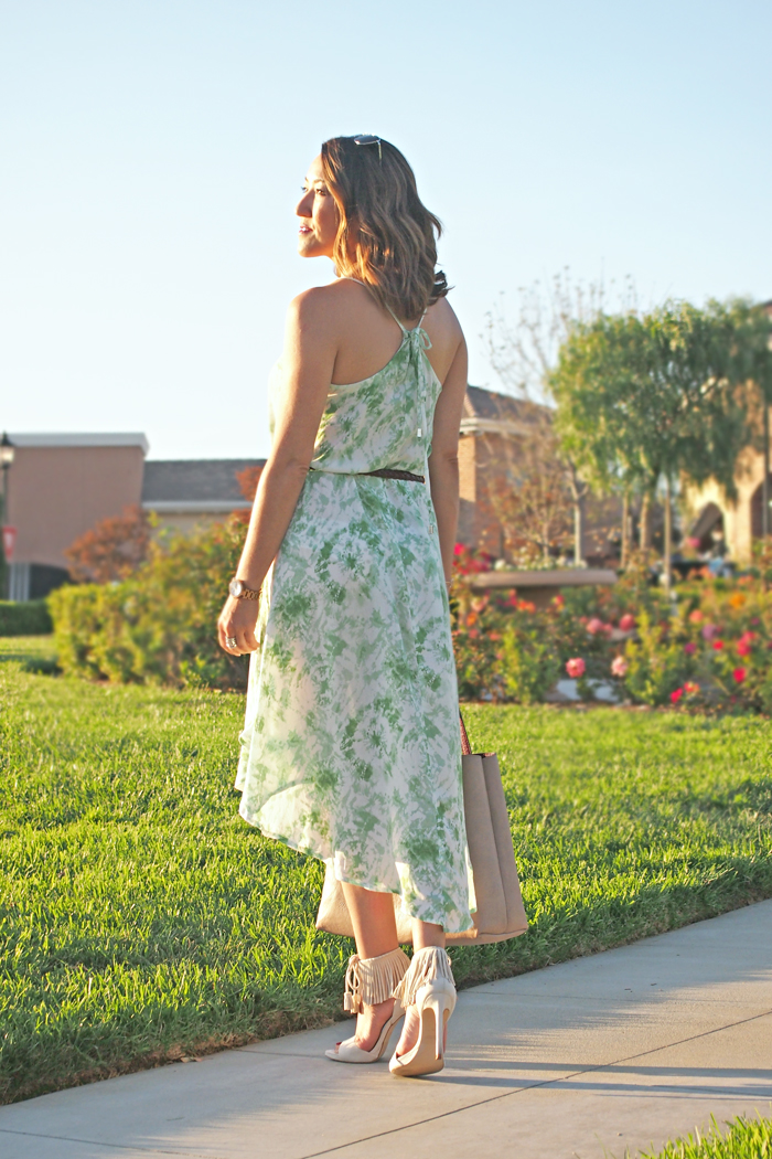 summer dress ootd fringe heels