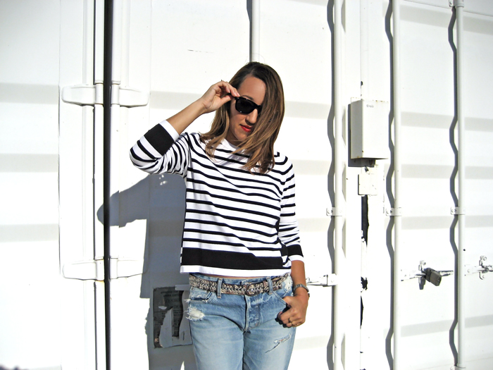savvynista stripes and denim fall style