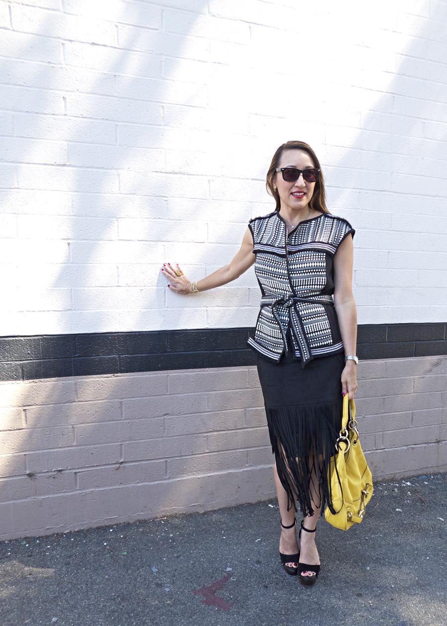 maria von losch boho chic style ootd fringe skirt