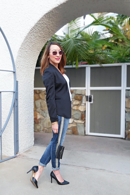 maryley jeans blk tux blazer side