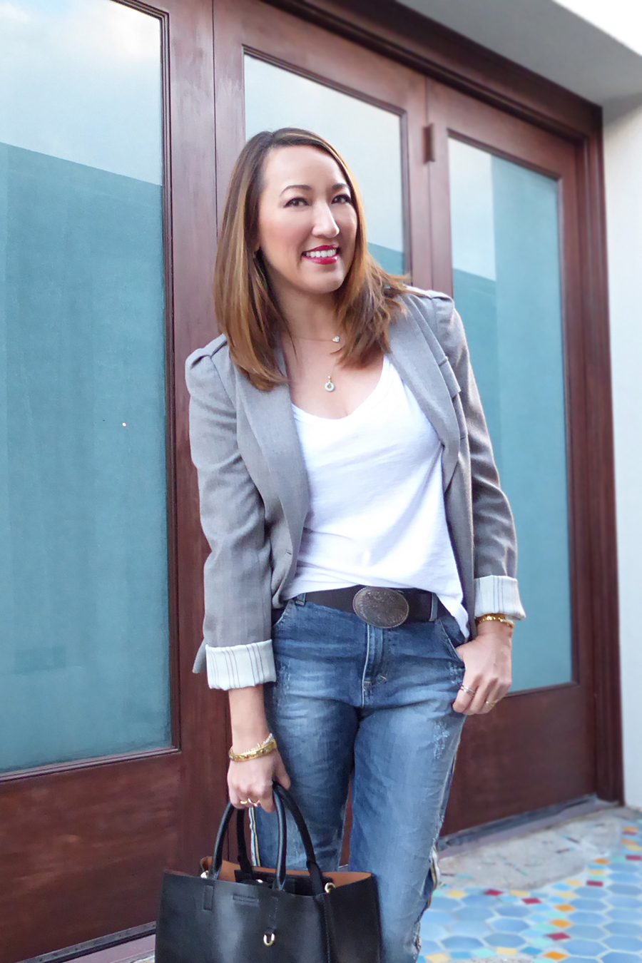 mvl grey blazer maryley jeans