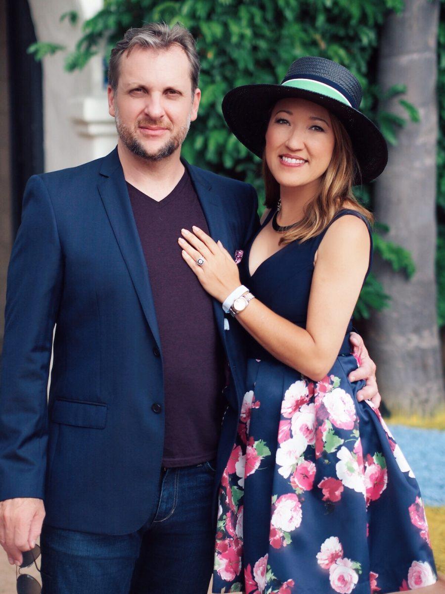 Scott Helms Maria Von Losch stylish couple Opening Day 2016