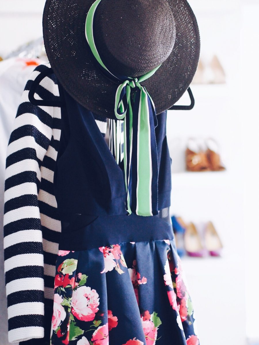 Floral and stripes ootd