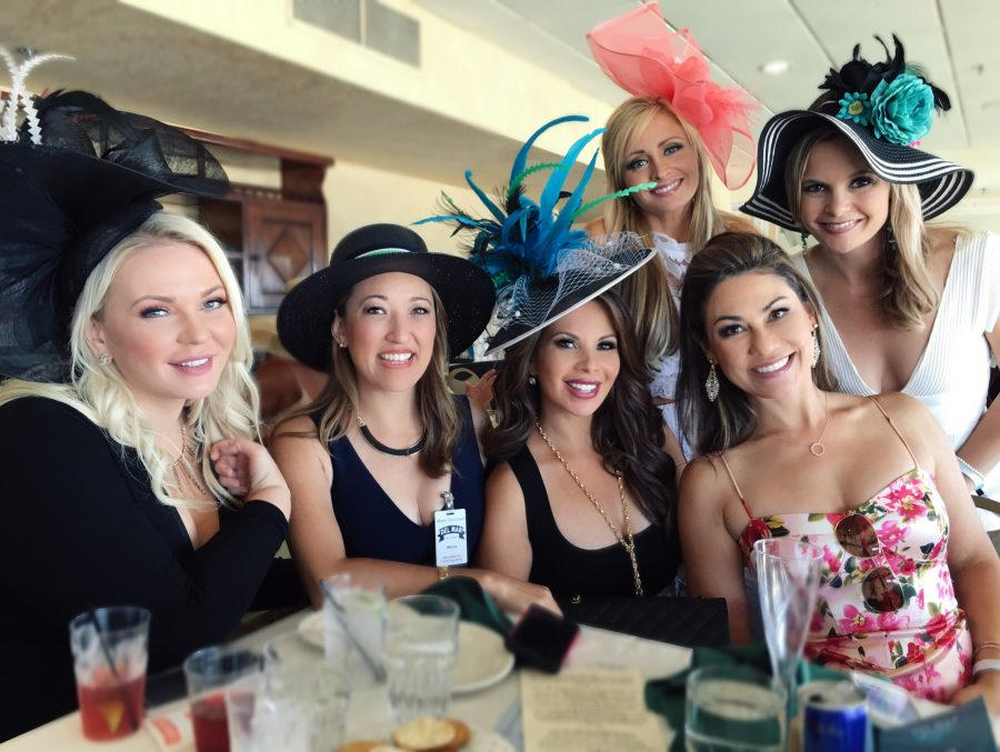 My girl squad all dressed up for 2016 Opening Day Del Mar Races.