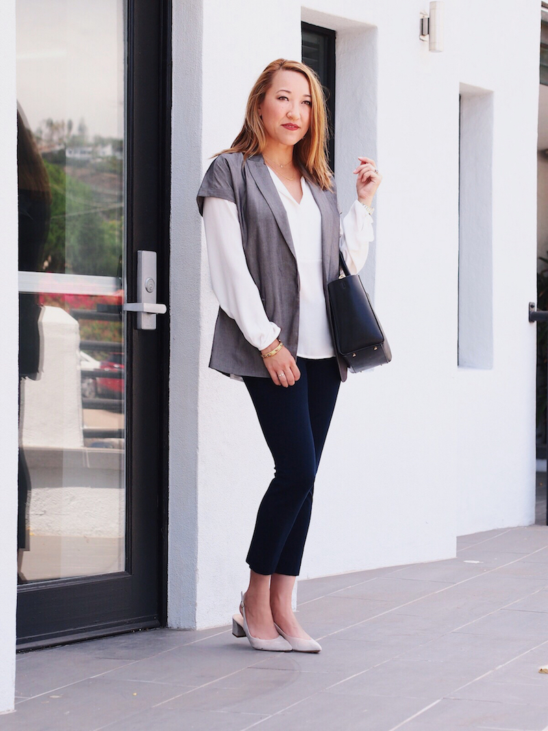 office-style-tuxedo-vest-with-white-blouse