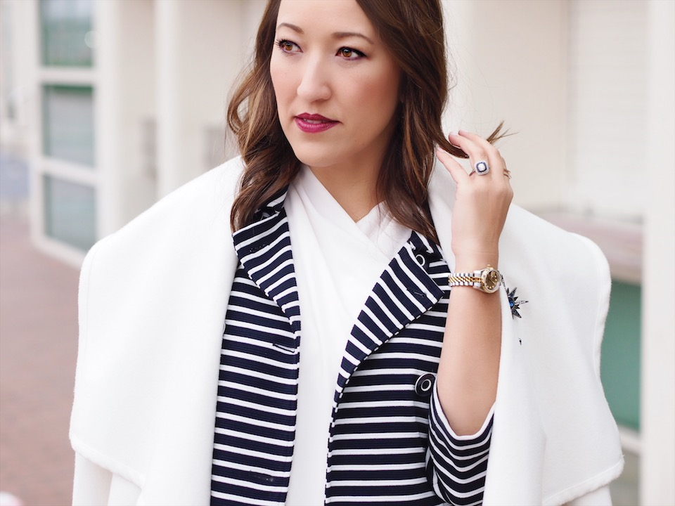How to Style Stripes for Winter