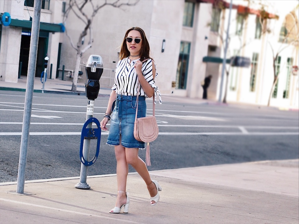 How to Wear a Denim Skirt this Spring