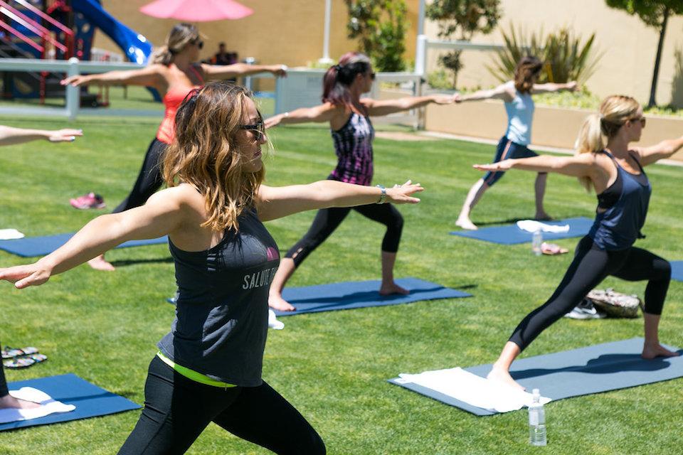 outdoor yoga bay club carmel valley