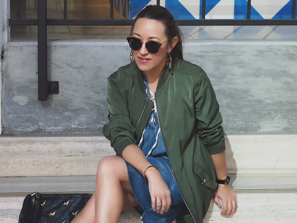 Day to Night Style: The Long Bomber Jacket
