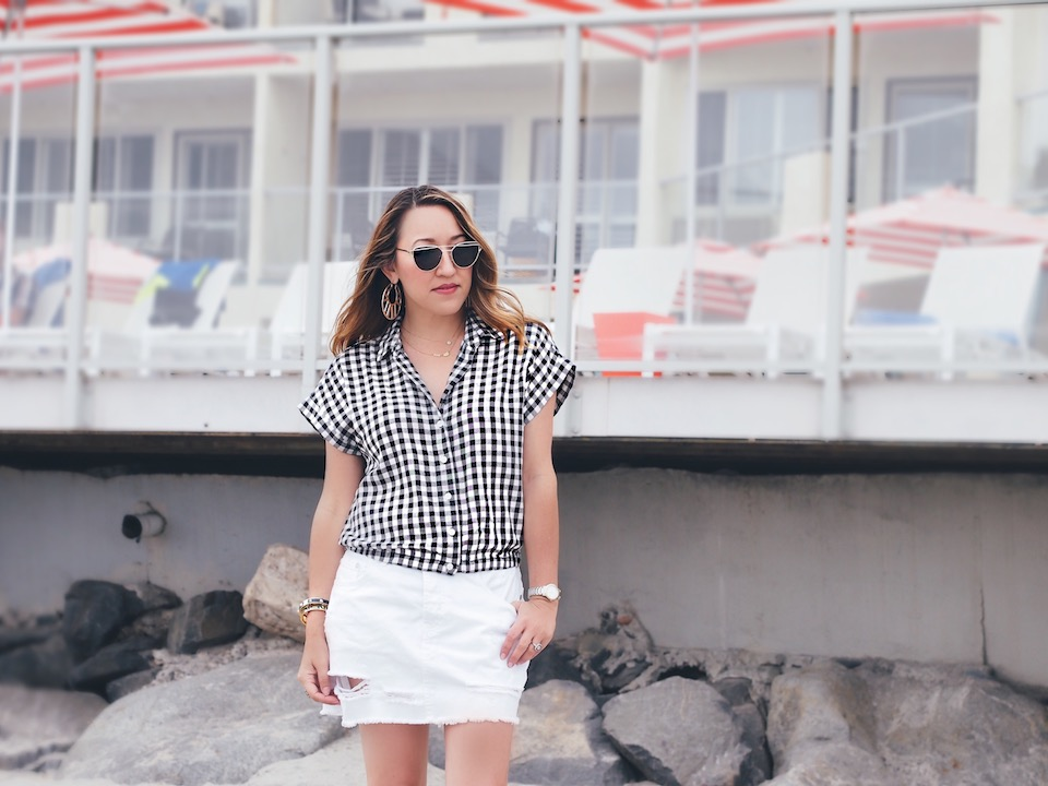 How to Style Gingham Tops Under $50