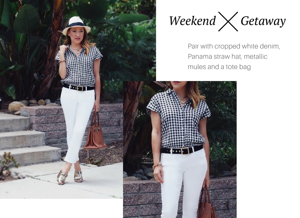 how to style gingham for the weekend