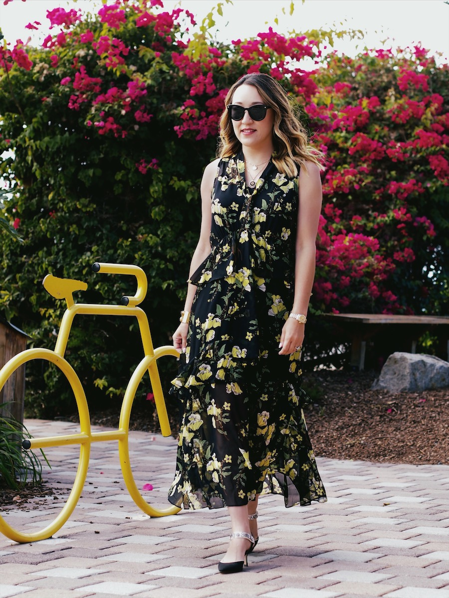 how to style dark florals for fall
