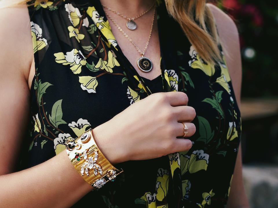 accessorizing dark florals